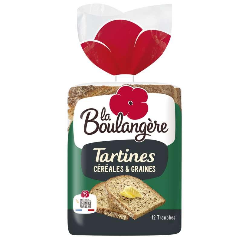 Tartines céréales et graines, La Boulangère (450 g)