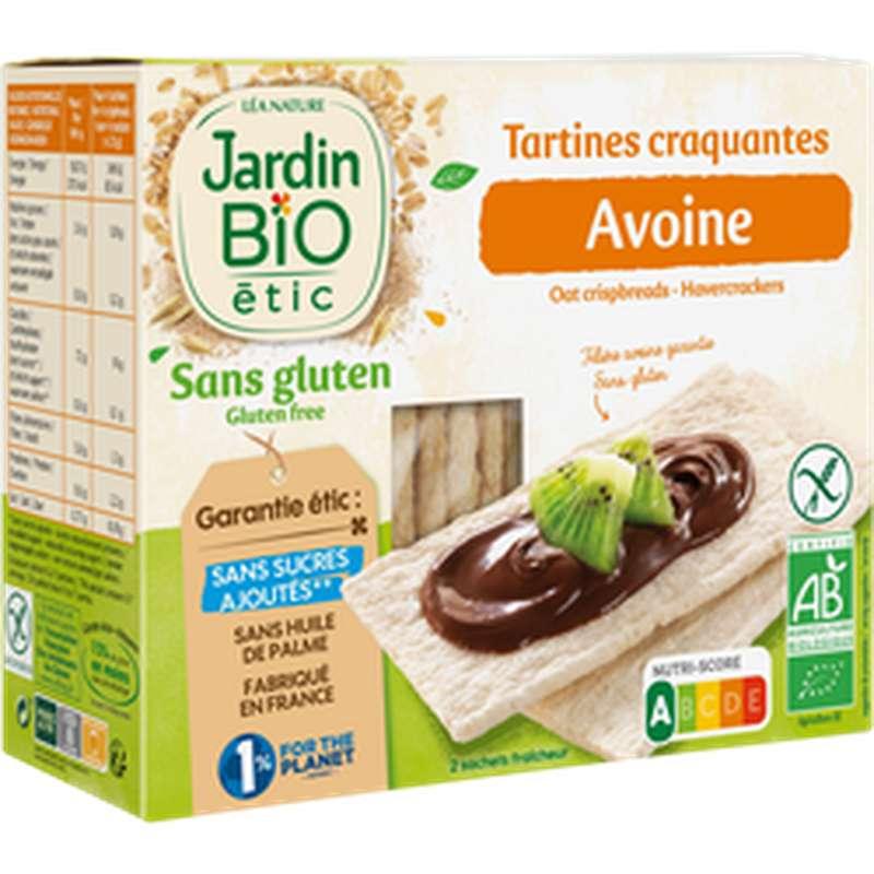 Tartines craquantes avoine sans gluten BIO, Jardin Bio étic (150 g)
