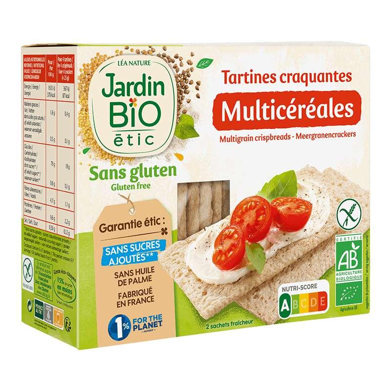 Tartines craquantes multicéréales sans gluten BIO, Jardin Bio étic (150 g)