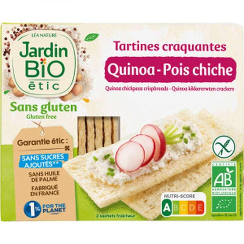Tartines quinoa pois chiche sans gluten BIO, Jardin Bio étic (150 g)