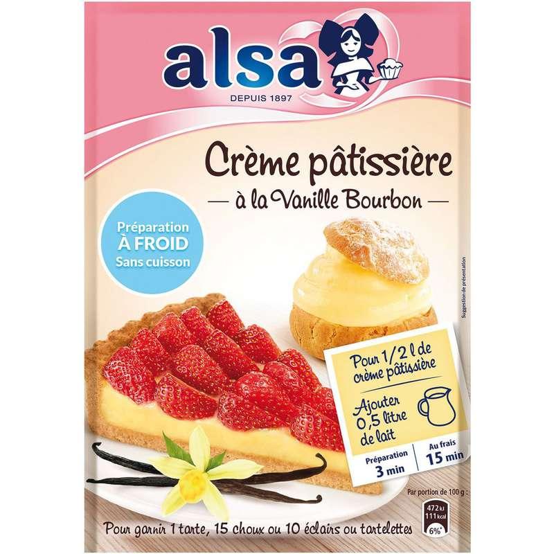 Préparation pour crème pâtissière à la vanille bourbon à froid, Alsa (125 g)