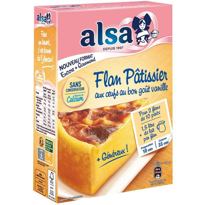 Préparation pour flan pâtissier aux œufs et vanille, Alsa (740 g)