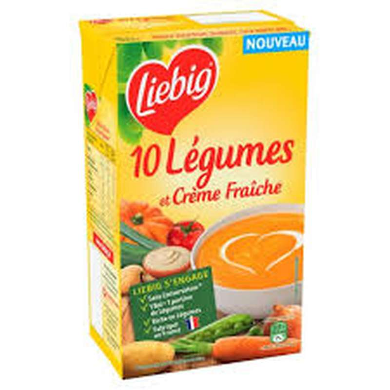Soupe aux 10 légumes et crème fraîche, Liebig (1 L)