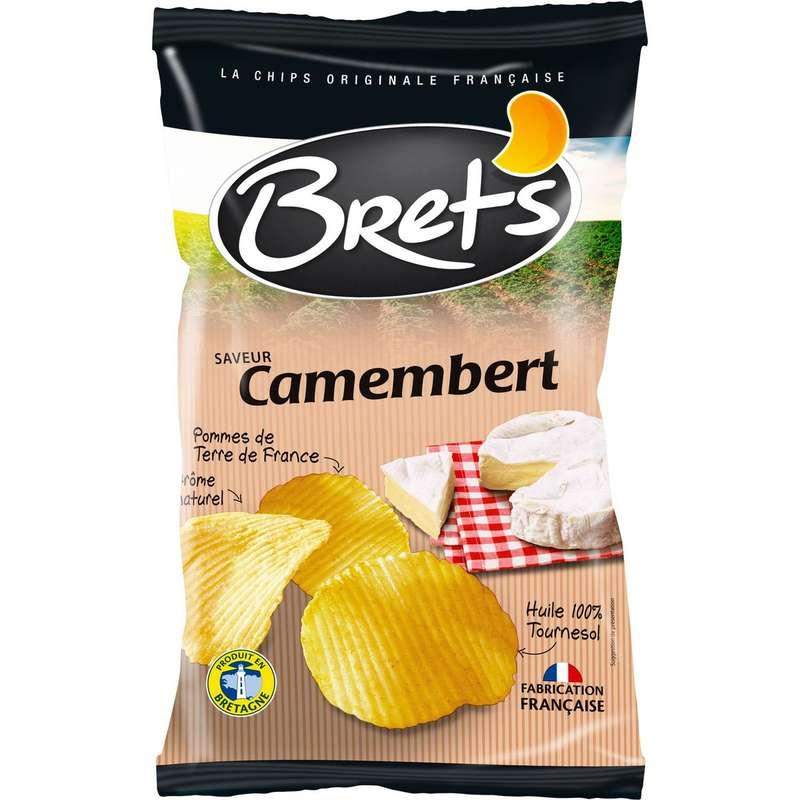 Chips ondulées saveur camembert, Bret's (125 g)