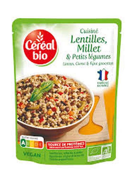 Plat cuisiné lentilles millet légumes BIO, Céréal Bio (250 g)