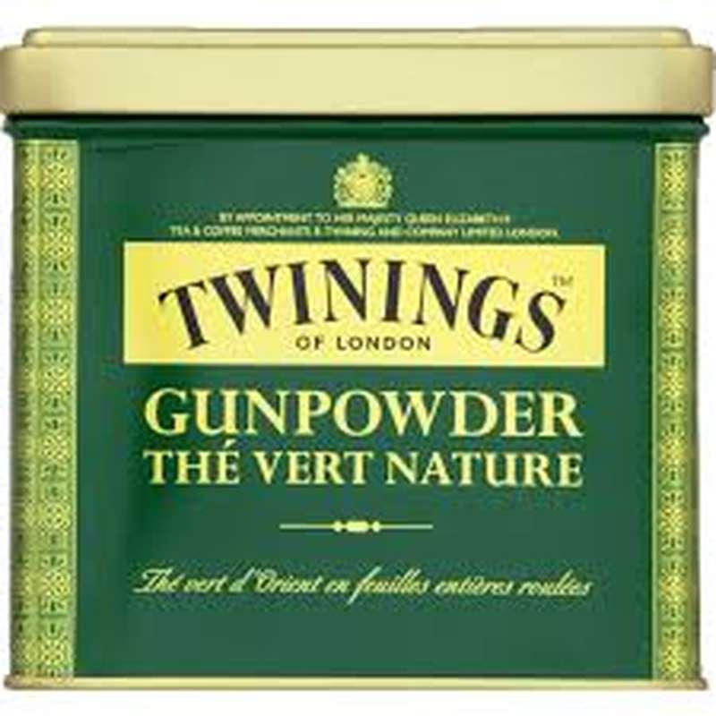 Thé Vert nature Gunpowder en vrac, Twinings (200 g)