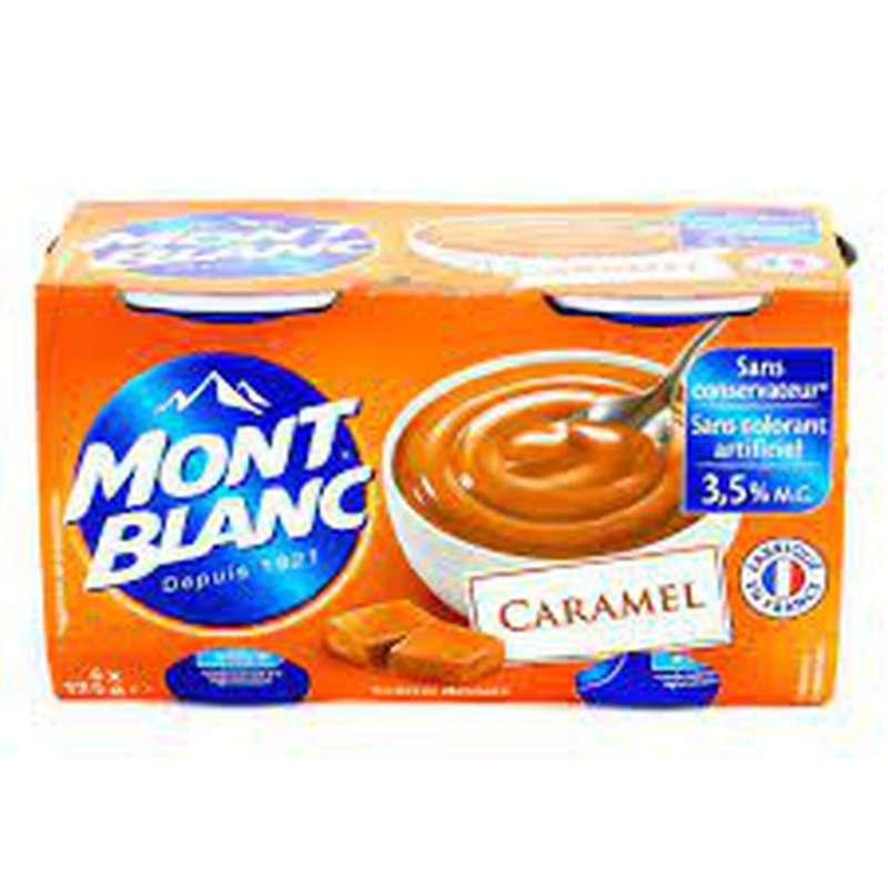 Crèmes dessert caramel, Mont blanc (4 x 125 g)