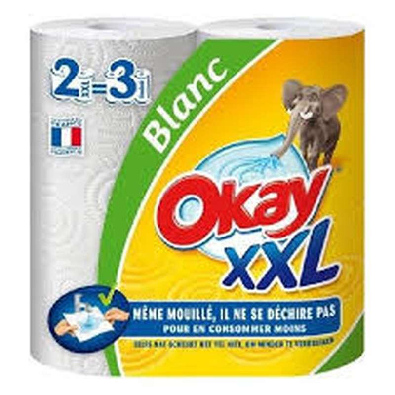 Maxi essuie tout blanc, Okay (x 2)