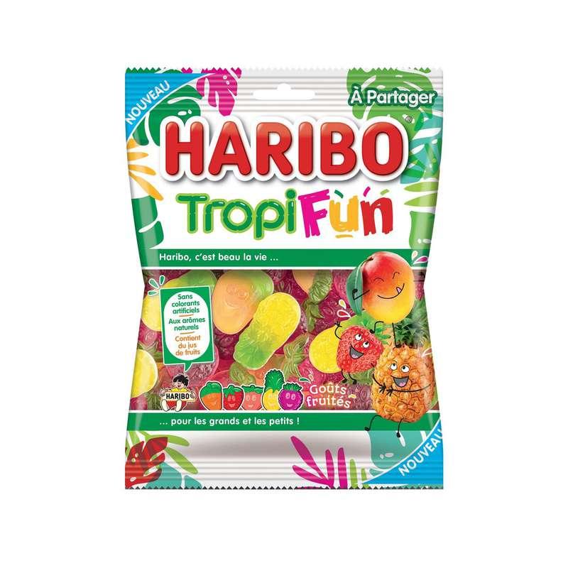 Tropi fun bonbons gélifiés aux fruits, Haribo (220 g)