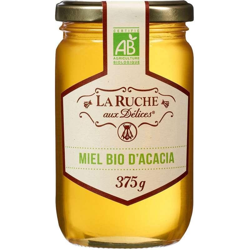 Miel d'acacia BIO, La ruche aux délices (375 g)