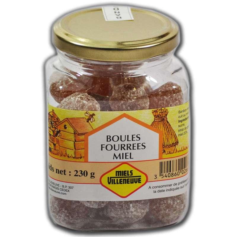 Boules Fourrees au miel, Miels Villeneuve (230 g)