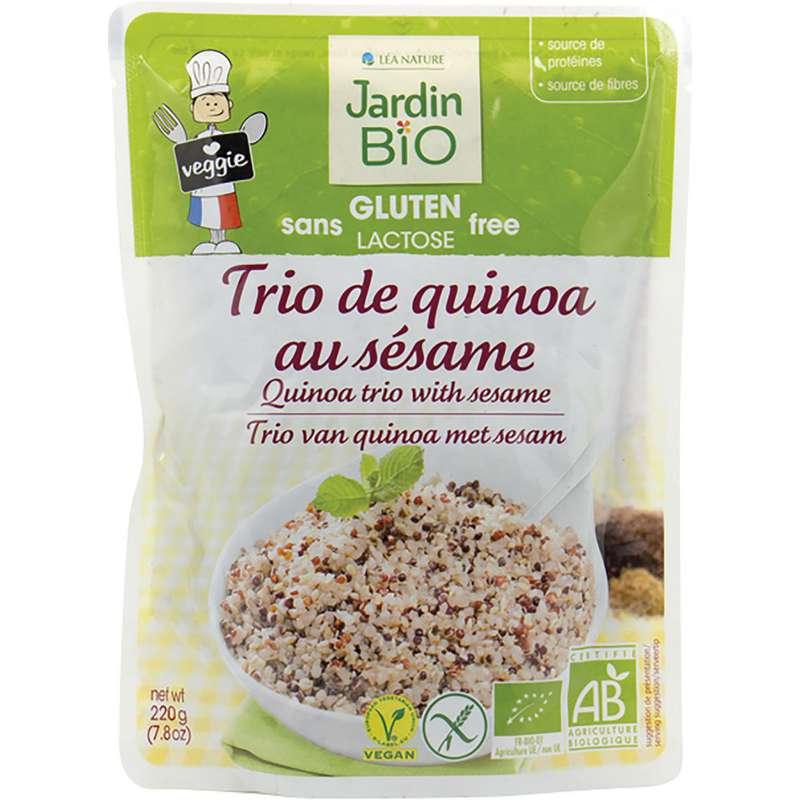 Trio quinoa sésame sans gluten, Jardin Bio (220 g)