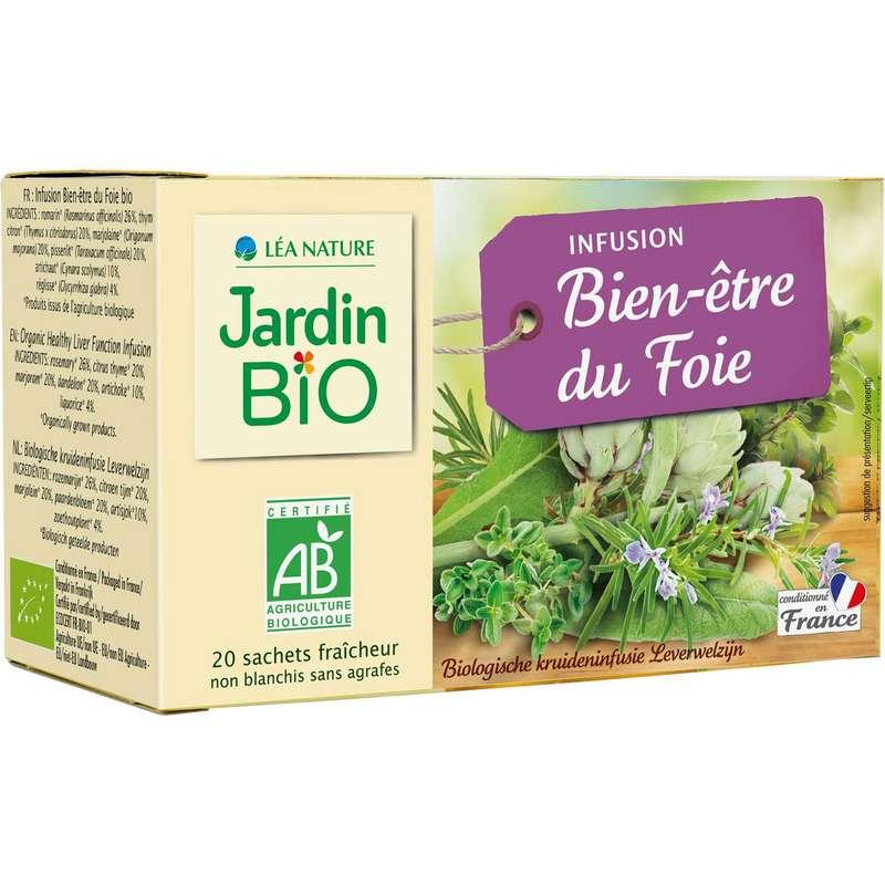 Infusions bien-être du foie, Jardin Bio (x 20, 28 g)