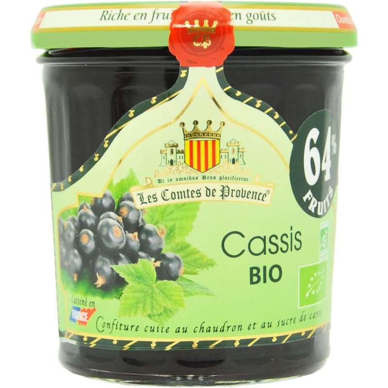 Confiture cassis BIO, Les comtes de Provence (350 g)