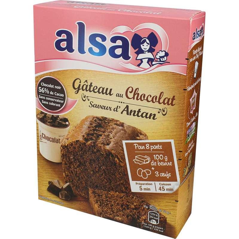 Préparation pour gâteau au chocolat saveur d'antan, Alsa (300 g)