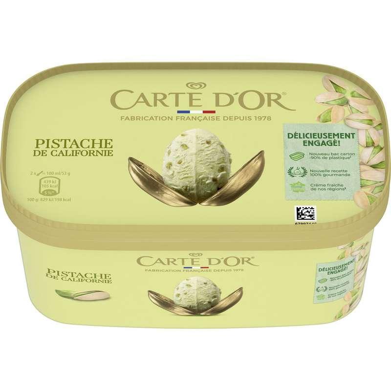 Crème glacée pistache de Californie, Carte d'or (473 g)