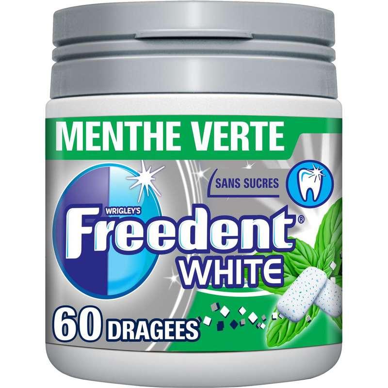 Chewing-gum white menthe verte, Freedent (84 g)