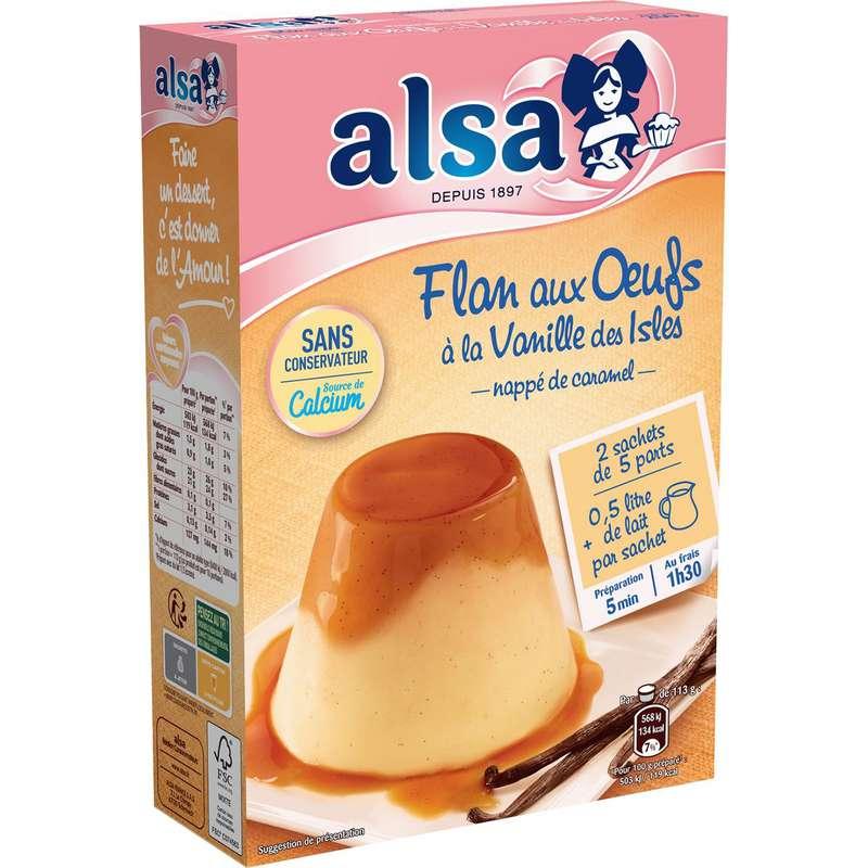 Préparation flan aux oeufs vanille des isles, Alsa (250 g)