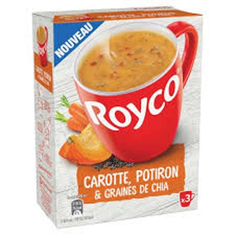 Soupe déshydratée carotte, potiron et graine de chia, Royco (60 cl)