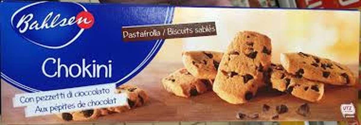 Biscuits Chokini aux pépites de chocolat, Bahlsen (125 g)