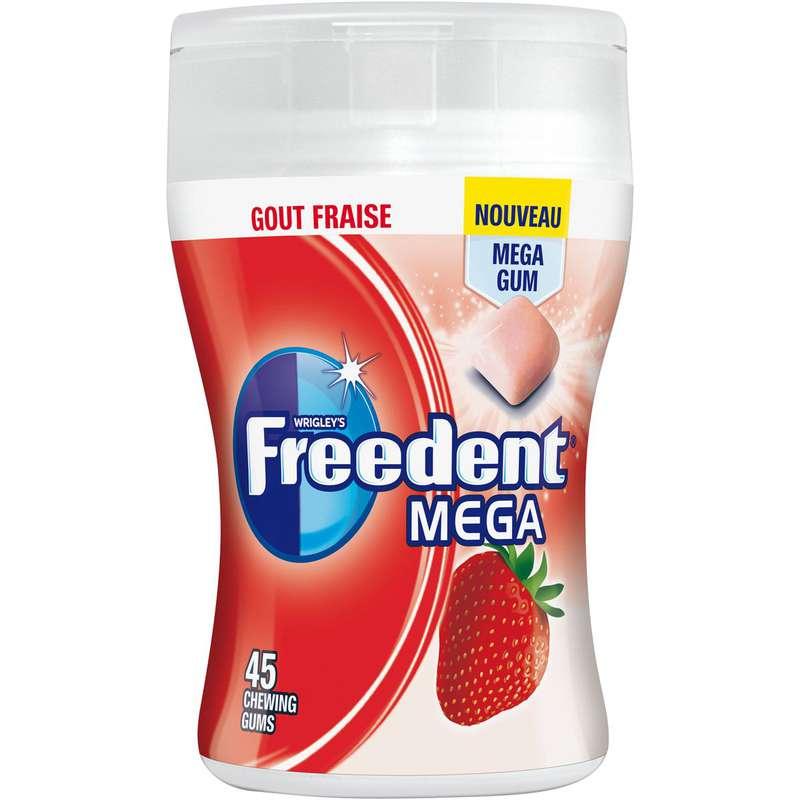 Chewing-gum à la fraise mega boîte, Freedent (103 g)