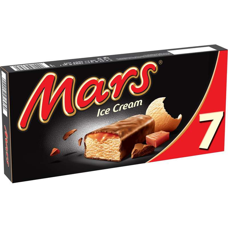 Barre glacée Mars (x 7, 293 g)