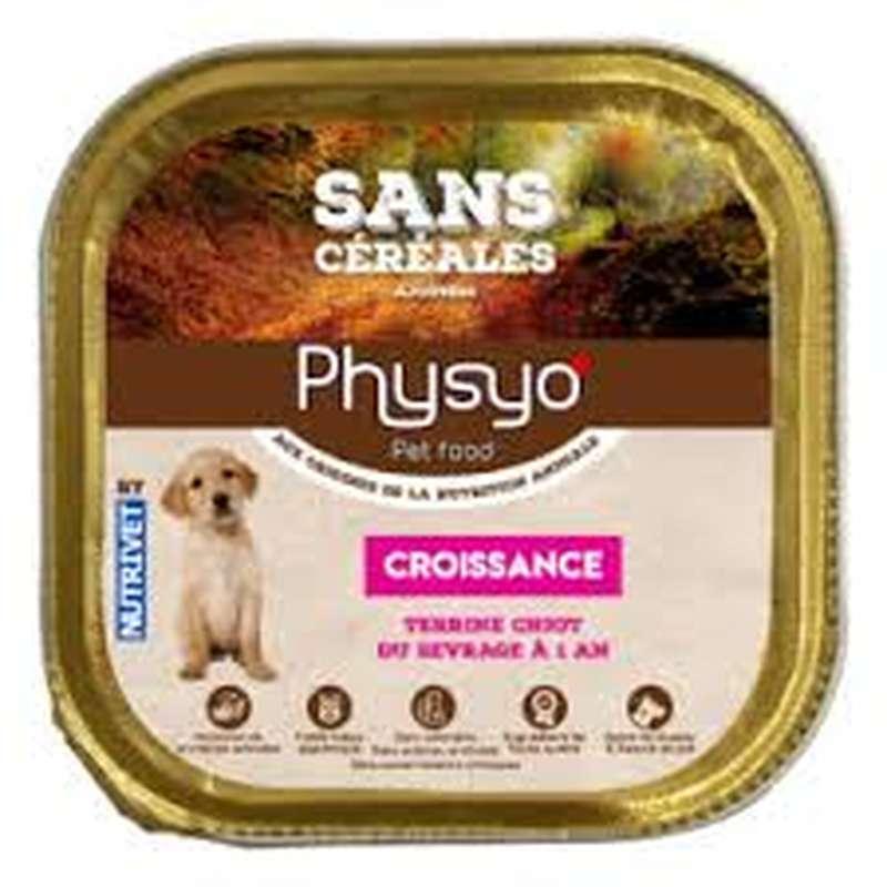 Terrine pour chiot croissance sans céréales, Physyo (150 g)