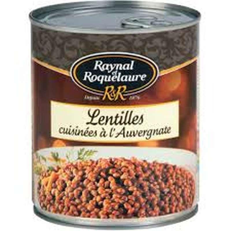 Lentilles cuisinées à l'auvergnate, Raynal et Roquelaure (820 g)