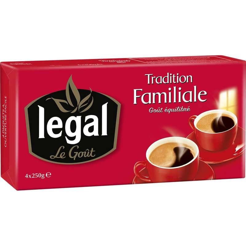 Café moulu tradition familiale, Legal (4 x 250 g)