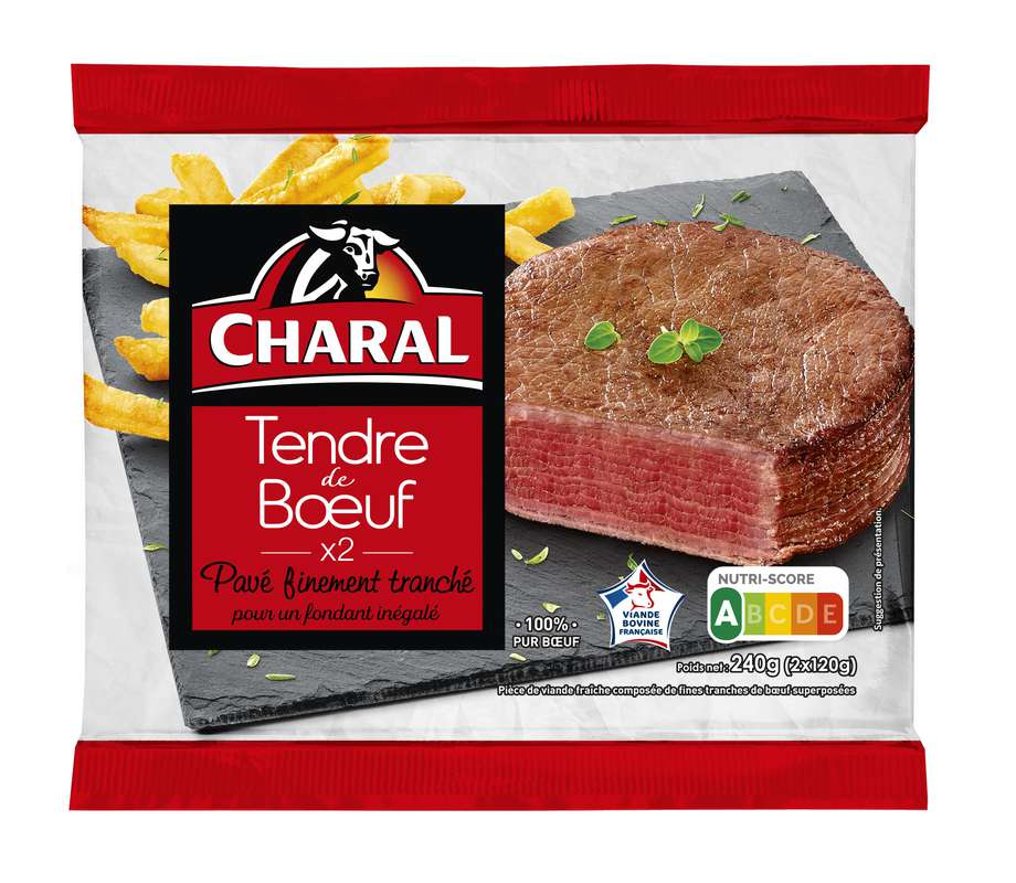 Tendre de boeuf, Charal (x 2, 240 g)