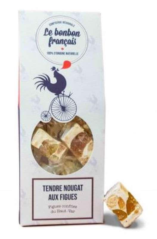 Tendre nougat aux figues confites du Haut-Var, Le Bonbon Français (135 g)