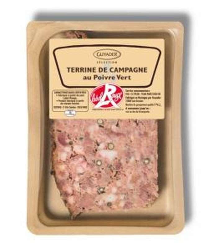 Terrine de campagne au poivre vert Label Rouge, Guyader (160 g)