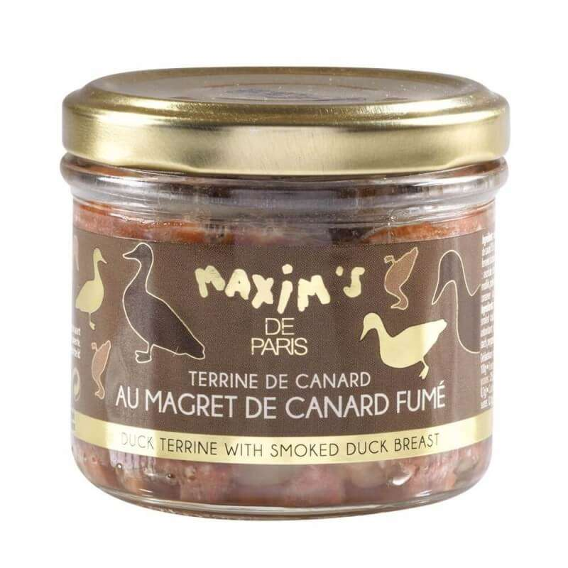 Terrine de canard au magret de canard fumé, Maxim's (90 g)