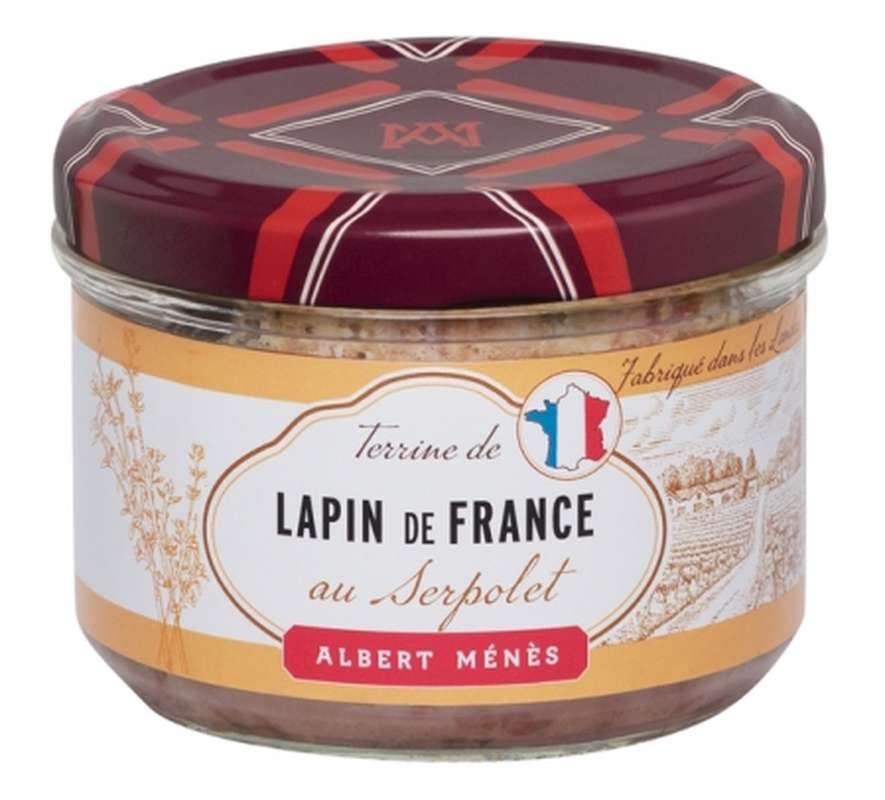 Terrine de Lapin de France au Serpolet, Albert Ménès (180 g)