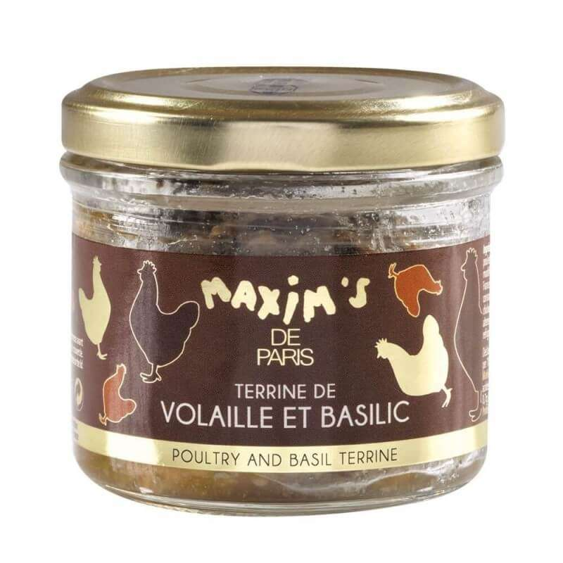 Terrine de volaille au basilic, Maxim's (90 g)