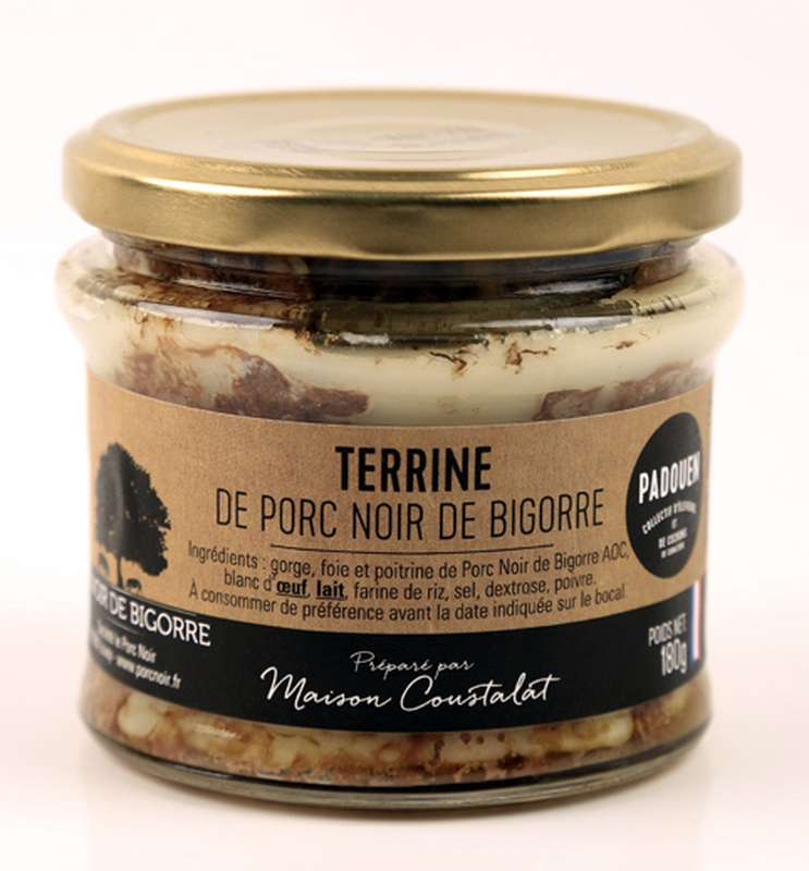 Terrine nature Noir de Bigorre, Padouen (180 g)