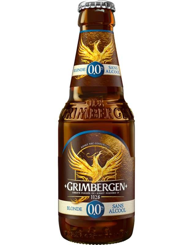 Bière Blonde sans alcool 0°, Grimbergen (25 cl)