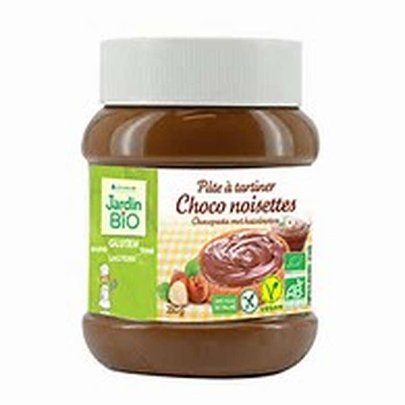 Pâte à tartiner chocolat noisettes sans gluten BIO, Jardin Bio (350 g)