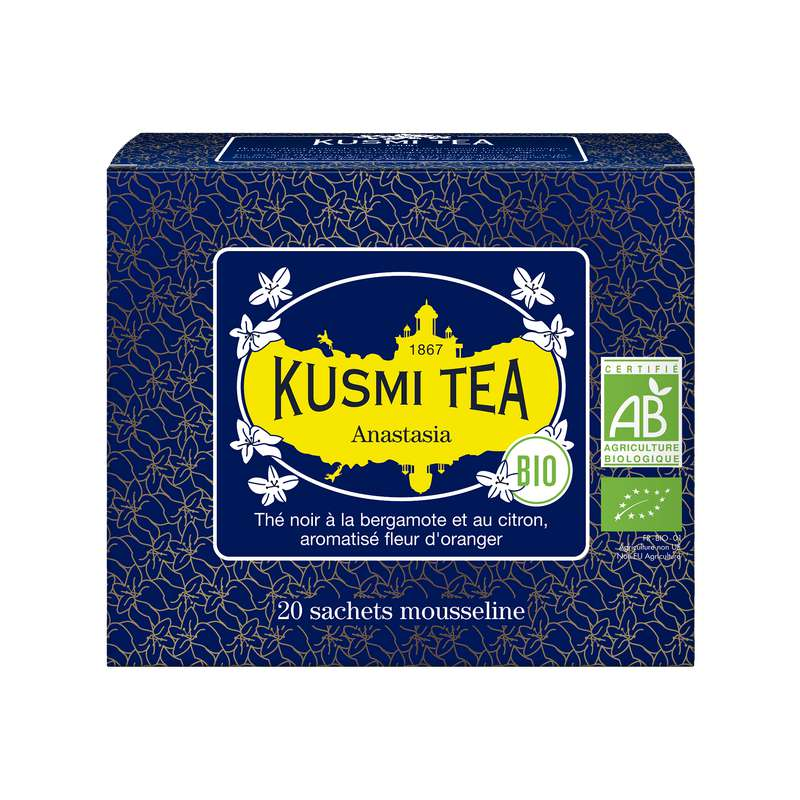 Thé Anastasia BIO - étui sachets mousseline, Kusmi Tea (x 20, 40 g)