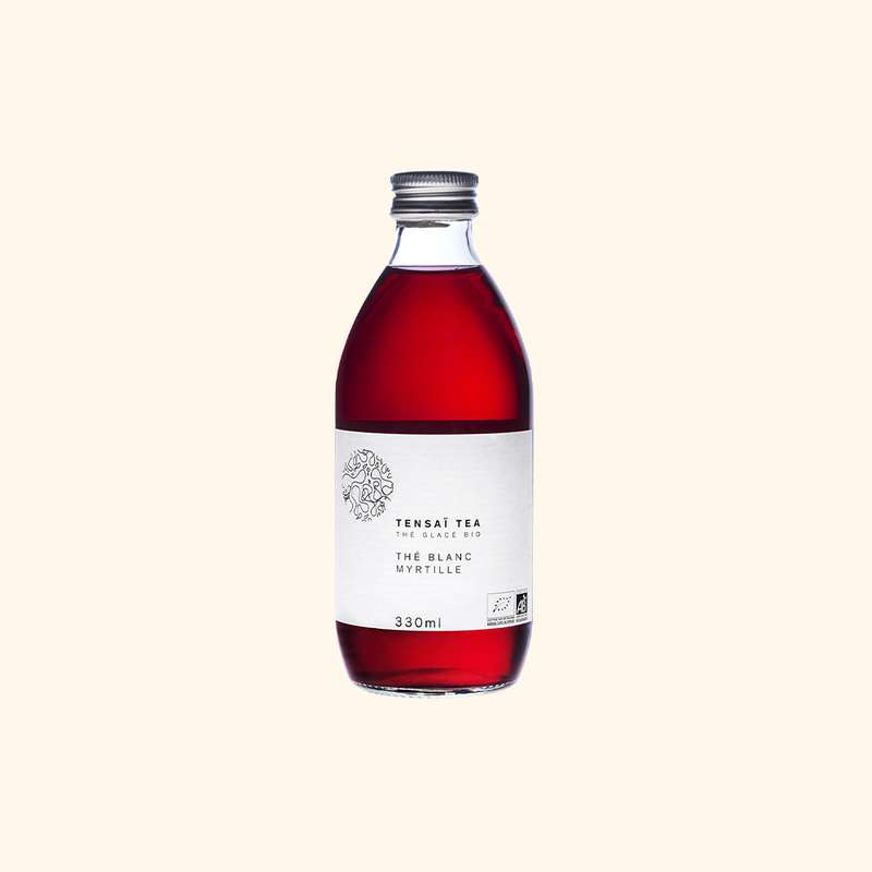 Thé blanc Myrtille BIO, Tensaï Tea (33 cl)
