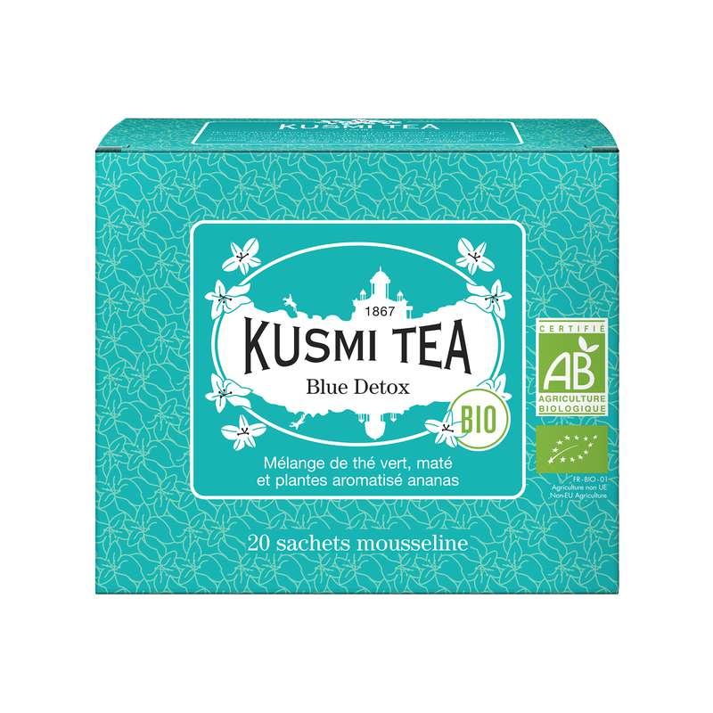 Thé Blue Detox BIO - étui sachets mousseline, Kusmi Tea (x 20, 40 g)