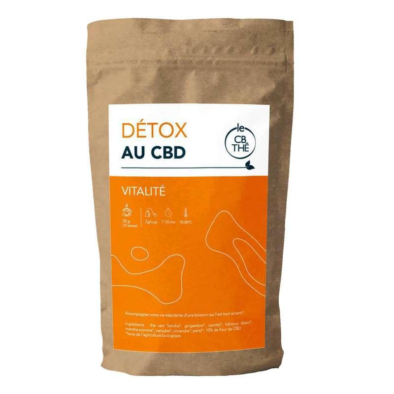 Thé détox 10% d'extrait de fleur de CBD BIO, Le CB Thé (20 g)