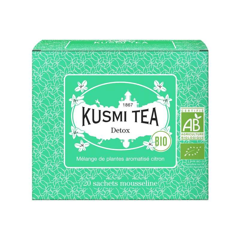 Thé Detox BIO - étui sachets mousseline, Kusmi Tea (x 20, 40 g)