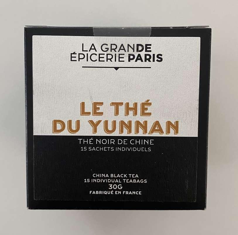 Thé du Yunnan, thé noir de Chine, La Grande Epicerie de Paris (x 15)