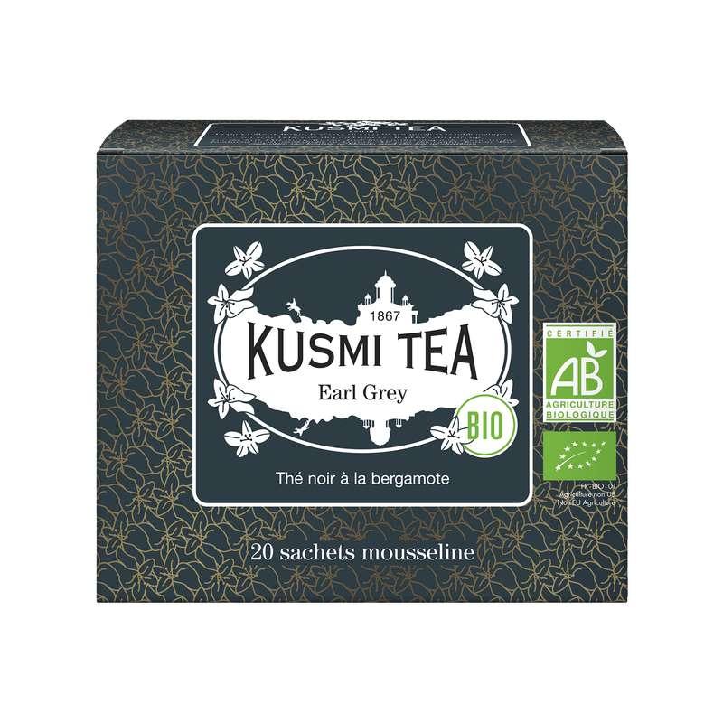 Thé Earl Grey BIO - étui sachets mousseline, Kusmi Tea (x 20, 40 g)