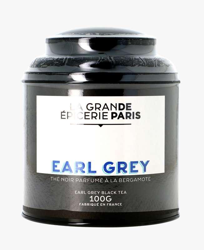 Thé noir Earl Grey aromatisé à la bergamote, La Grande Epicerie de Paris (100 g)