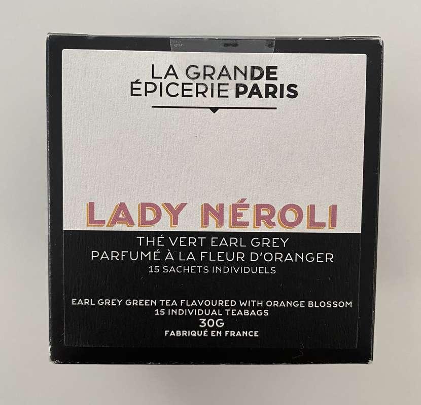 Thé Lady Néroli, thé vert Earl Grey à la fleur d'oranger, La Grande Epicerie de Paris (x 15)