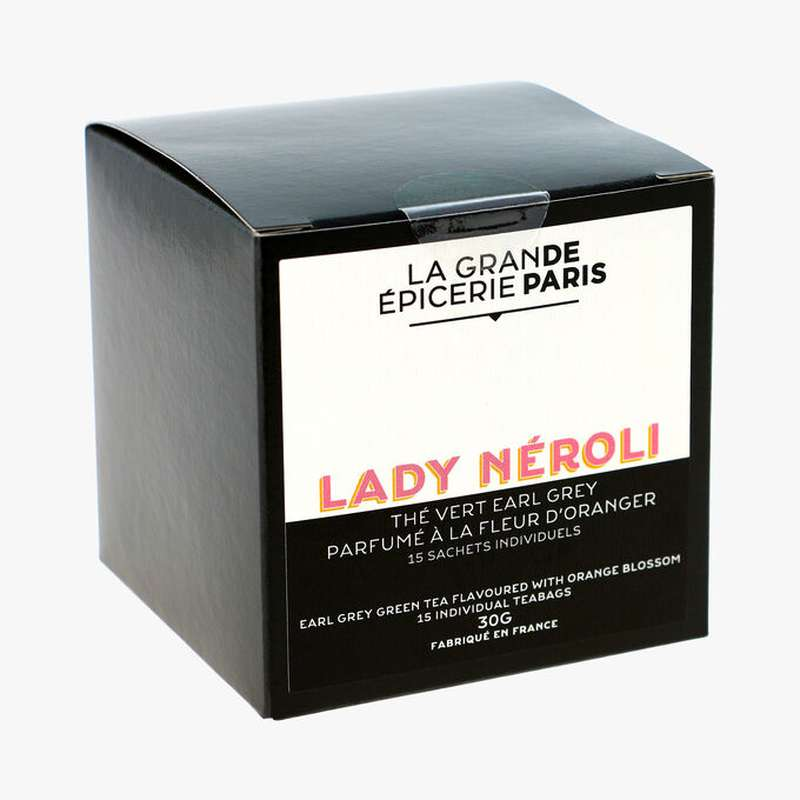 Thé vert Earl Grey Lady Néroli aromatisé à la fleur d'oranger, La Grande Epicerie de Paris (x 15)