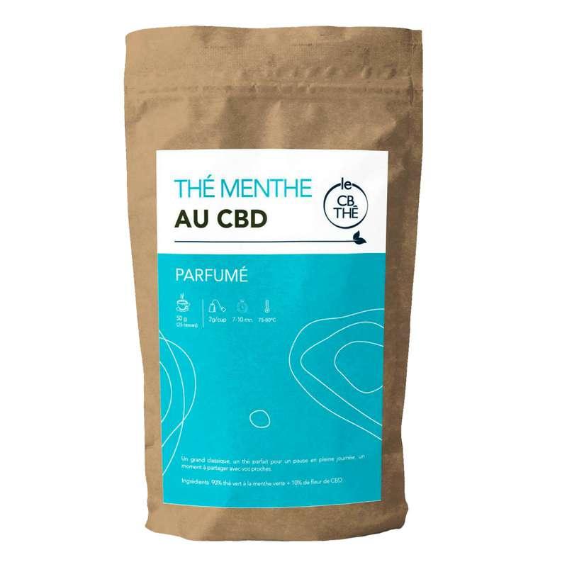 Thé menthe 10% d'extrait de fleur de CBD BIO, Le CB Thé (20 g)