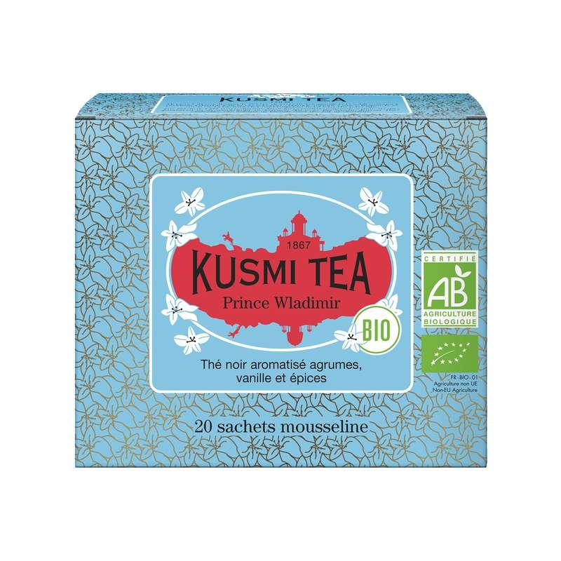 Thé Prince Vladimir BIO - étui sachets mousseline, Kusmi Tea (x 20, 40 g)